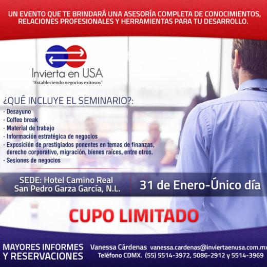 Como hacer negocios en Estados Unidos , Seminario en Monterrey