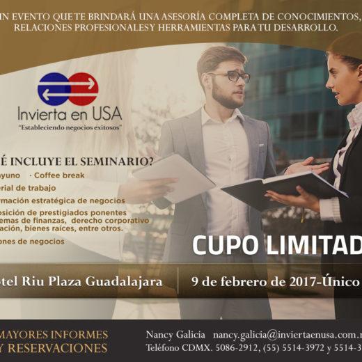 Como hacer negocios en Estados Unidos, Seminario en Guadalajara