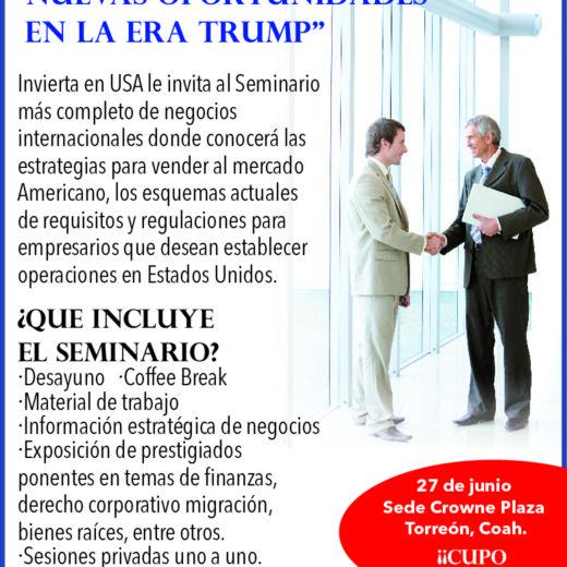 Nuevos retos, nuevas oportunidades en la era Trump, Torreon Coahuila – Crowne Plaza