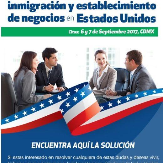 Inmigración y establecimiento de negocios en Estados Unidos 6y7 Septiembre CDMX