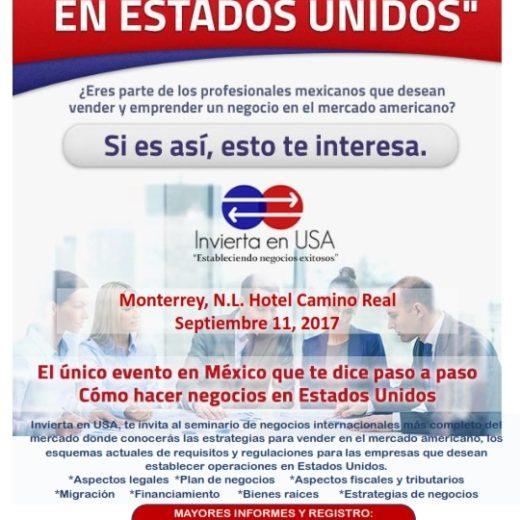 Como hacer negocios en Estados Unidos/ Mty N.L. Sept 11