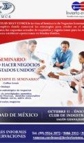 """Seminario en la CDMX """"Como hacer negocios en Estados Unidos"""""""
